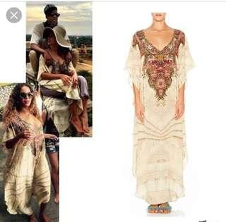 Camilla v-neck long kaftan worn by Beyonce worn once WITH BOTH HANDS