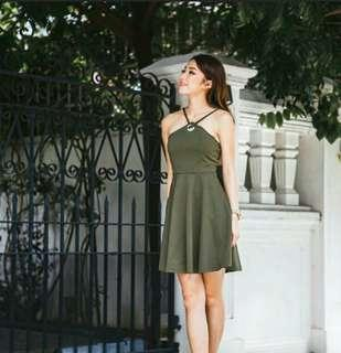 Brown Halter Dress