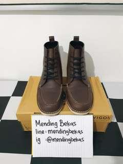 Boots Dark Brown VIGOS mirip Red Wing Docmart