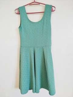 Plain Green Dress