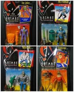 Batman the Animated Series: the Joker, scare crow, mr. Freeze