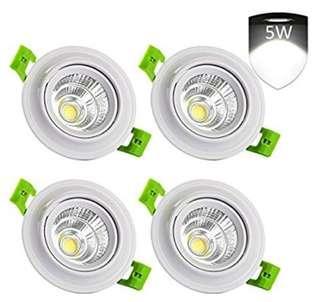 LEDMO 4-Pack Flush LED Downlight