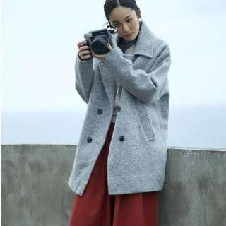 全新 MO-BO 紮實保暖雙排釦設計大衣