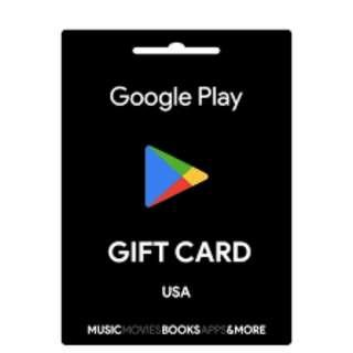 🚚 US Google Play Gift Cards