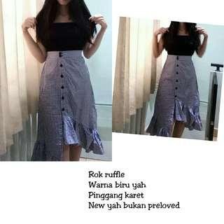 Rok ruffle blue NEW