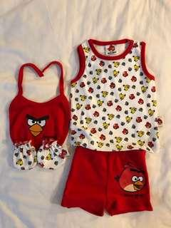 🚚 Angry Birds Newborn Clothes set