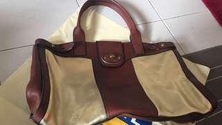 Fossil leather weekender bag