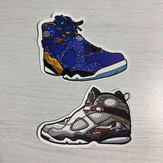 559c18a7468e88 Nike Air Jordan XIII (AJ8) Sneakers Waterproof Stickers