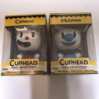 全新 Funko cuphead mughead $120一隻