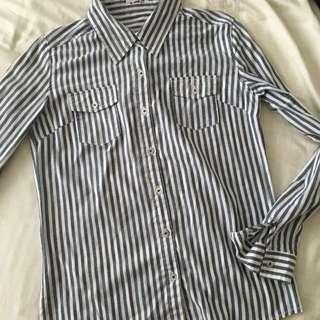 Stripe shirt blouse