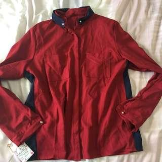 Red maroon shirt blouse