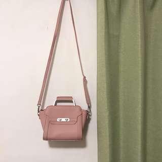 🚚 莫蘭迪 氣質藕粉色小包 肩背包斜背包