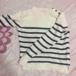 Zara Stripe Knitted Top Sweater