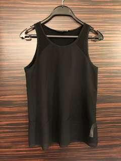 $450➡️$45 French Connection Simple Black Tank Top
