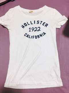 Hollister 白色休閒踢正版