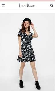🚚 Love bonito Calix Floral Tie Front skater dress