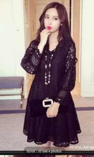 Brand new korean black dress