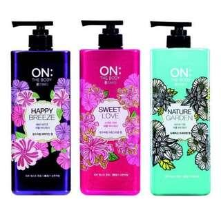 🚚 LG ON The Perfume Body Wash from Korea @ 500ml (3 different flavours)