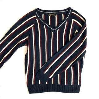 Stripes V Neck Sweater