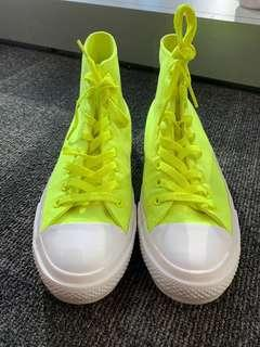 Converse Chuck Taylor II Men's US 8 All Star Rare Discontinued Neon chartreuse