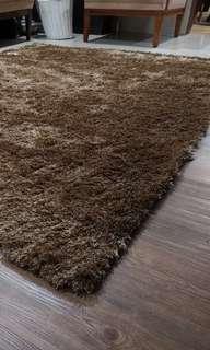 Fluffy Carpet Rug Light Brown Color SSF 160cm x 230cm