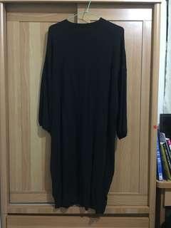 🚚 黑色 針織 一件式 連身裙 one piece