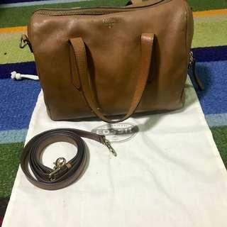 Fossil bag satchel brown