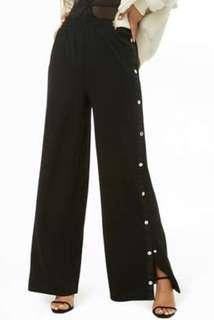 FOREVER 21 BUTTON WIDE PANTS