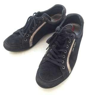 Auth PRADA SPORT Women's Navy Blue Suede Sneakers Trainers 3E4890 EU 38 GUC