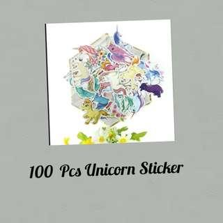 100 Pcs Unicorn Sticker