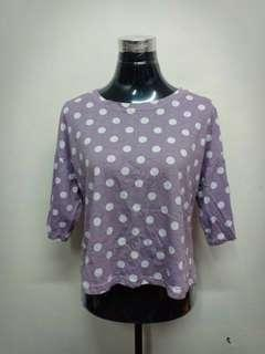 Polka dot purple top