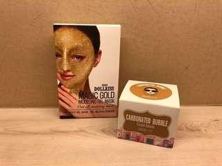 Carbonated Bubble gold mask