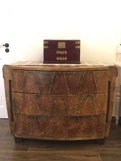 BERLUTI Italian handmade patina leather cabinet draw