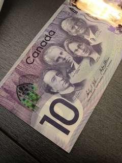 加幣CAD$10 紀念鈔