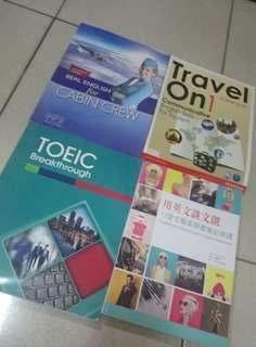 🚚 #我要賣課本 Real english for cabin crew/ Travel on 1 communicative english skills for tourism/ Toeic breakthrough/ 用英文談文創12堂文藝美學產業必修課