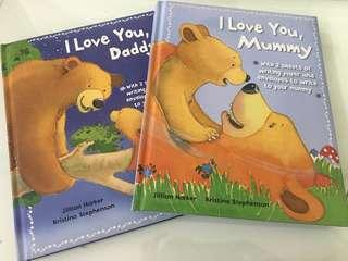 "Preloved ""I Love You, Daddy"" and ""I Love You, Mummy"" books"