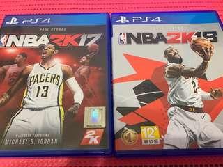 🚚 PS4 2K17 2K18 遊戲光碟 正版(中英文)