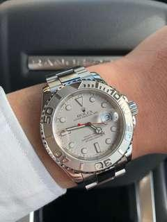 Minty Rolex Yacht Master 16622 Platinum Bezel & Dial