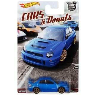 Hot Wheels Car Culture Cars & Donuts Subaru Impreza WRX.