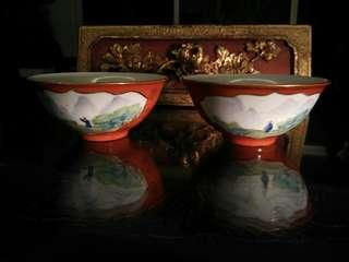 Old chinese export porcelain bowl