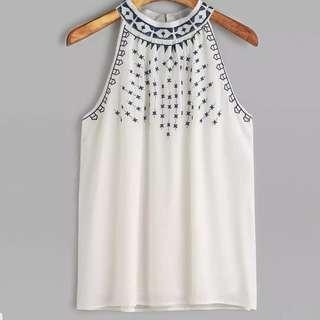 [PO] Embroidered Halterneck Top (46)