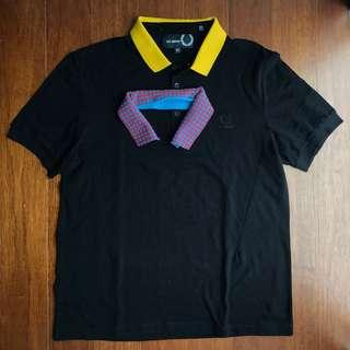 Raf Simons x Fred Perry polo shirt with detachable collar