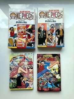 🚚 Set of Japanese One Piece manga and cards