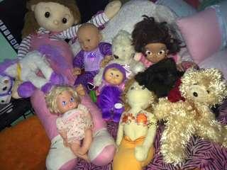 Baby dolls and stuff toys