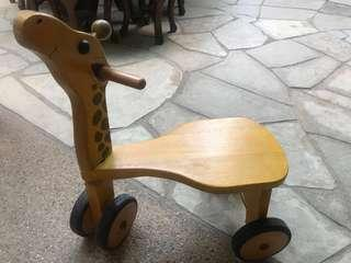 Wooden Giraffe Tricycle