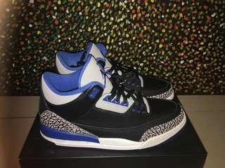 ef4b023f56b Nike Air Jordan 3 Retro Sport Blue Basketball Shoes
