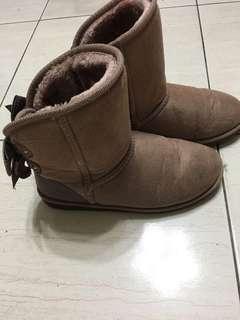 🚚 雙蝴蝶結雪靴