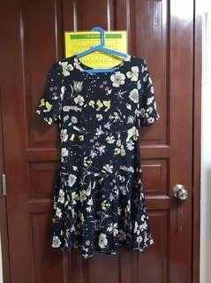H&M Floral Black Dress
