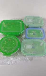 🚚 康寧耐熱玻璃保鮮盒五件組