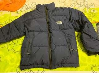 North face down jacket navy blue